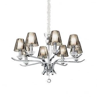 Ideal Lux Event Traditional Chrome Ceiling Light With Matching 8 Shades