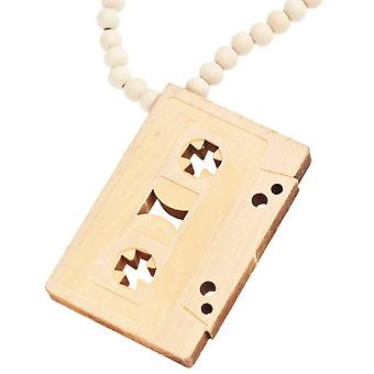 Wood Style Bead Kette - OLD SCHOOL beige