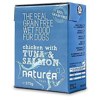 Naturea Tetra Pak Dog Chicken, tuna and salmon 375 G (Dogs , Dog Food , Wet Food)