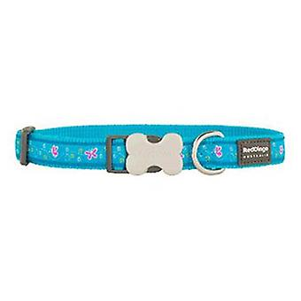 Red Dingo Collar para Perros Butterfly Turquesa XL