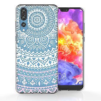 Etui en Gel TPU Huawei P20 Mandala Pro - blanc