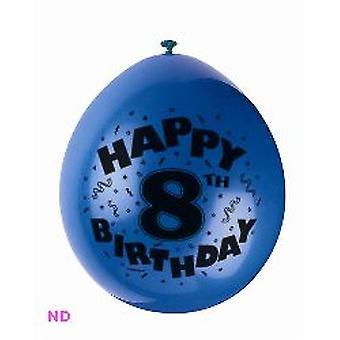 "Balloons 'HAPPY 8th BIRTHDAY' 9"" Latex Balloons (10)"