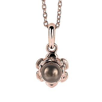 Orphelia Silber 925 Kette mit Anhänger Roseplated Synthetische Perle ZH-6021/1