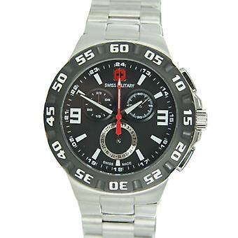 Szwajcarski wojskowy Hanowa zegarek SM12867JSTB. 02M racer si/sw ze stali nierdzewnej