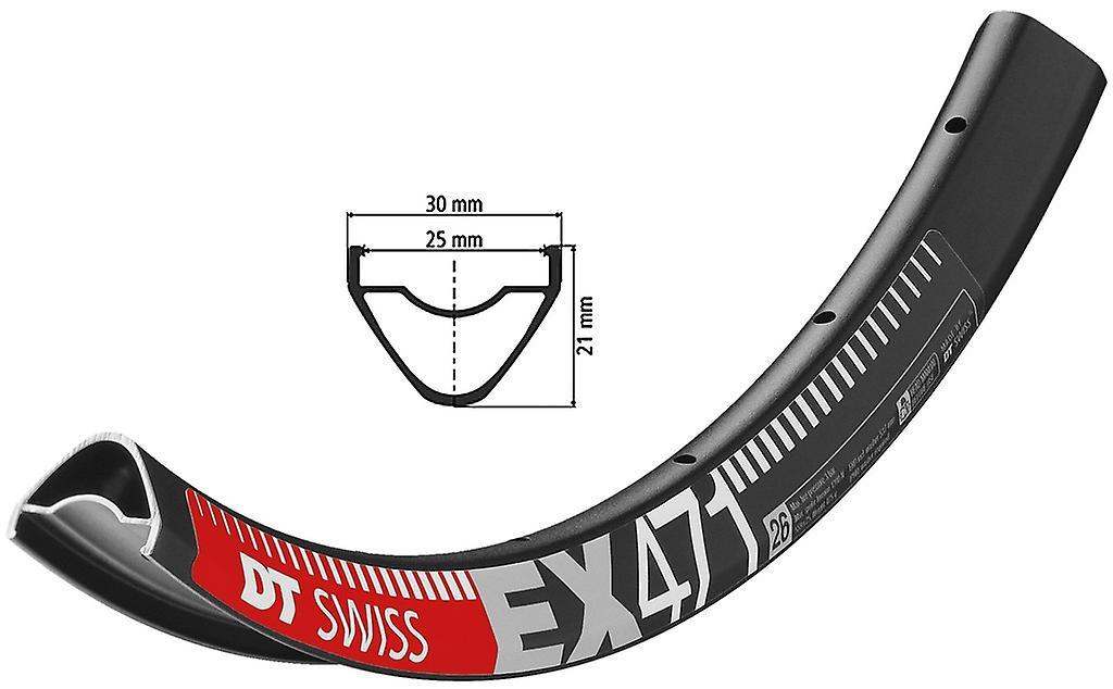 Roue de vélo DT Swiss EX 471 noir     559-25 (26)