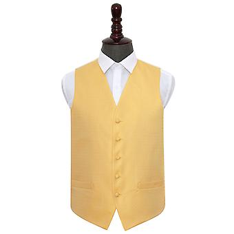 Marigold Greek Key Wedding Waistcoat