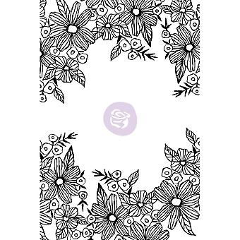 Christine Adolf Cling Rubber Stamps-Daisy Frame