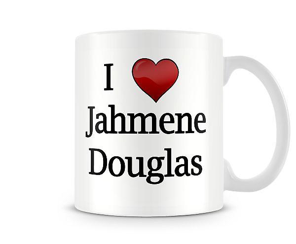 Ik hou van Jahmene Douglas bedrukte mok