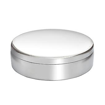Large Round Pewter Trinket Box - 10cm