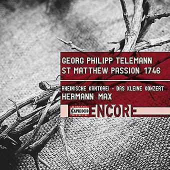 Telemann / Jochens / Max - Telemann: St Matthew Passion 1746 [CD] USA import