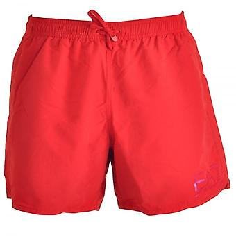 EA7 Emporio Armani Sea World Eagle Swim Shorts, Red (50)