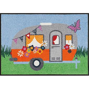 wash + dry floor mat happy camping 50 x 75 cm washable floor mat