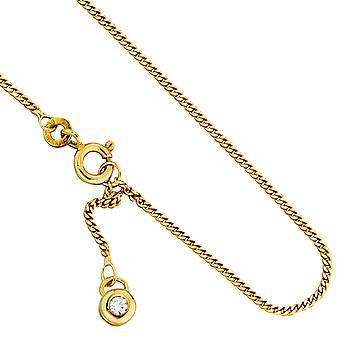 Foot chain 333/g gold Anklet with cubic zirconia Anklet in gold