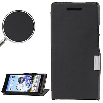 Cell phone cover case for Huawei Ascend P6 black brushed