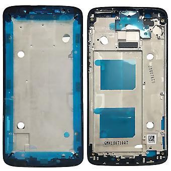 Carcasa cubierta de marco marco medio compatible para Motorola Moto G6 negro