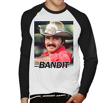 Smokey e Baseball il maschile di Bandit Burt Reynolds manica lunga t-shirt