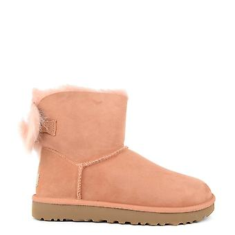 Ugg Fluff Bow Mini Suntan 'pink' Boot