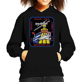 NASA STS 118 Space Shuttle Endeavour Mission Patch Kid's Hooded Sweatshirt