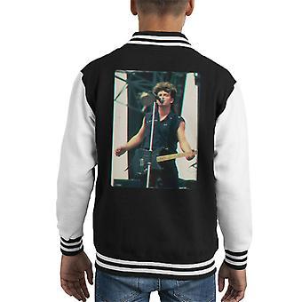 TV Times Bono Of U2 Guitar 3D Effect Kid's Varsity Jacket