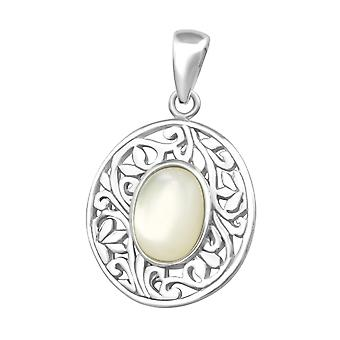 Oval - 925 Sterling Silver Plain Pendants - W36738x