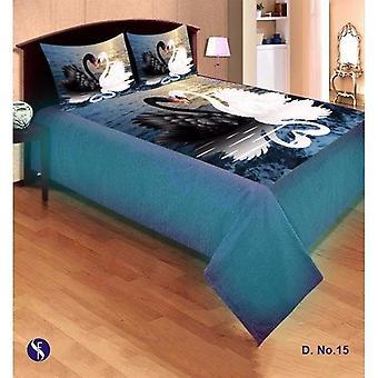 سرير الشانيل الحرير تنتشر بوسادة 2 يغطي مجموعة
