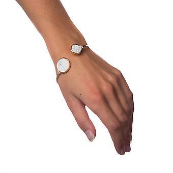 Armbånd hvid marmor-cirkel