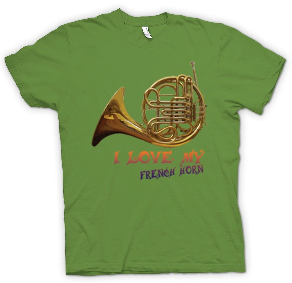 Mens T-shirt - I Love My French Horn