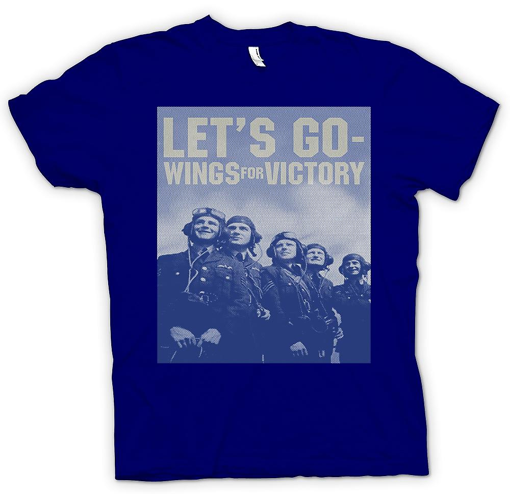 Mens t-shirt - Lets Go - ali per vittoria - RAF - Royal Airforce