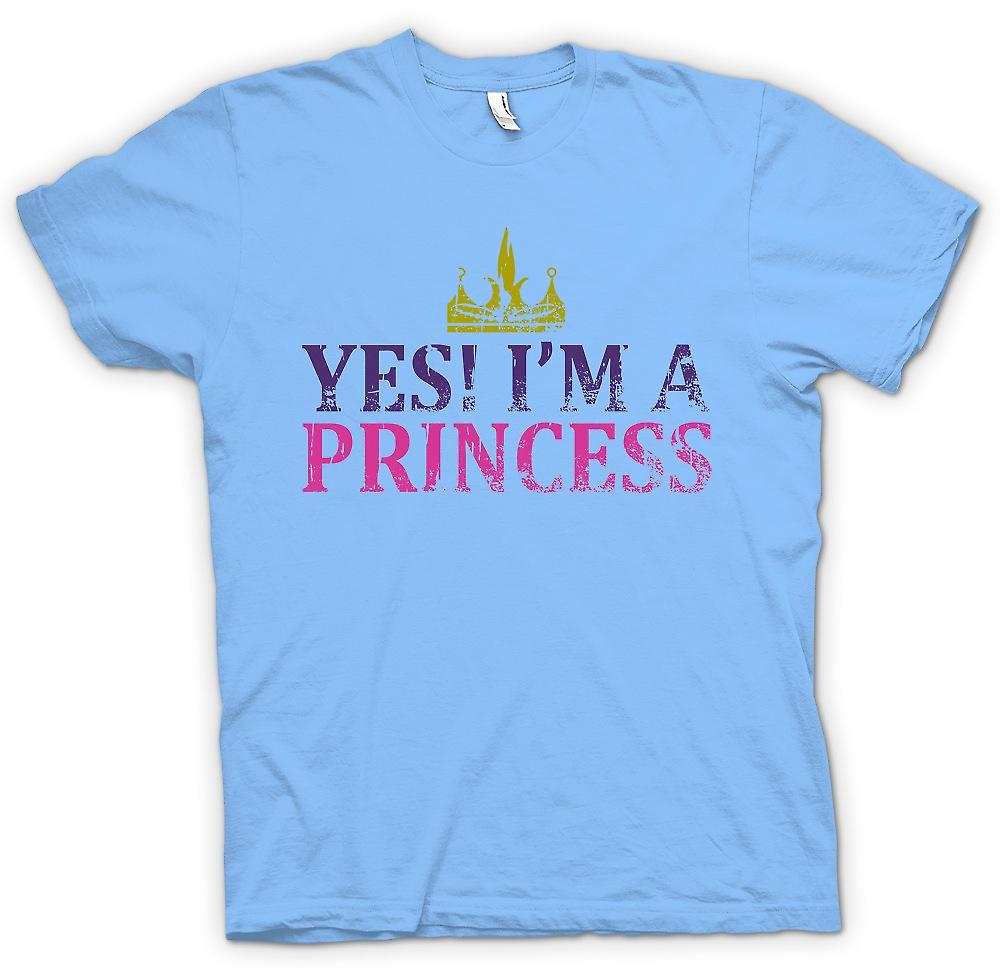 Heren T-shirt - ja Im A Princess - grappig
