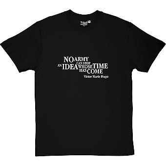Victor Hugo pomysł cytat Men's T-Shirt