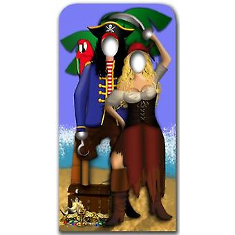 Pirate Couple Stand- In - Lifesize Cardboard Cutout / Standee