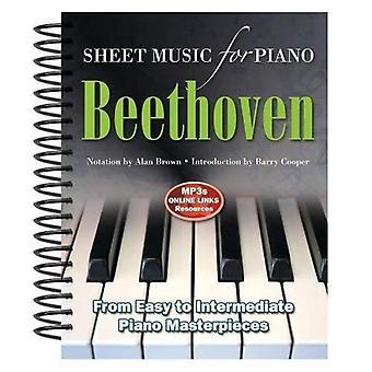Ludwig Van Beethoven: bladmuziek voor Piano: van eenvoudig tot geavanceerde; Meer dan 25 meesterwerken