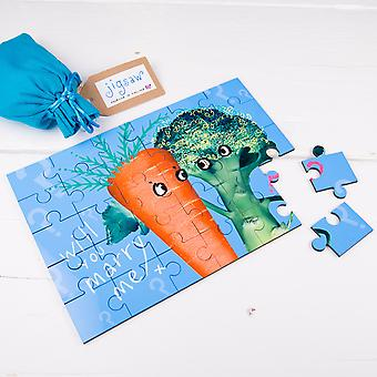 Will You Marry Me Vegetable Proposal Wooden Secret Message Jigsaw