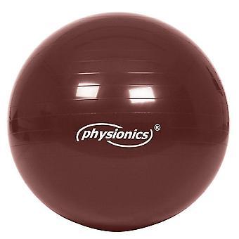Ballon de gymnastique Ø 65cm marron + pompe gonflage 0701096