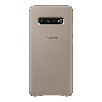 Samsung leather cover grey for Samsung Galaxy S10 G973 EF VG973LJEGWW bag case protective cover