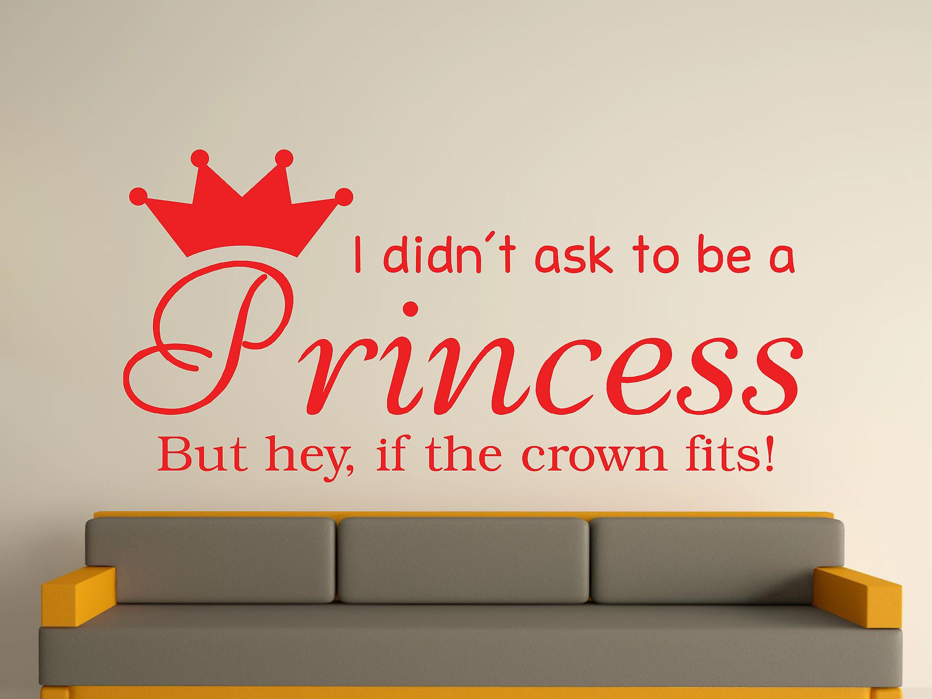 Being A Princess v2 Wall Art Sticker - Tomato Red