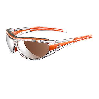 Adidas A126/00 6080 Race Transparent Orange Evil Eye Pro L Wrap Sunglasses Cycling, Running, Driving Lens Category 3 Size 70mm