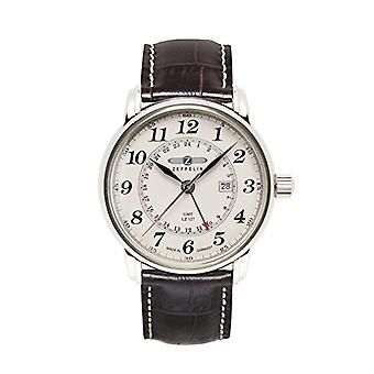 Zeppelin analog quartz watch with leather band _ 7642-5