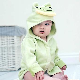 Friendly Frog baby bath robe