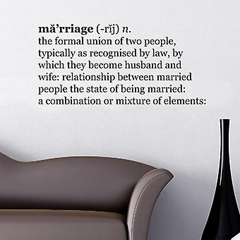Marriage Dictionary Wall Quote