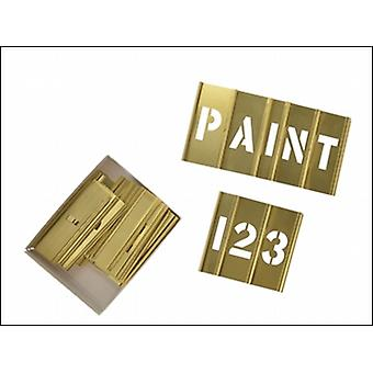 C H Hanson Brass Stencils Letters/Numbers 1 In 45 Piece Set