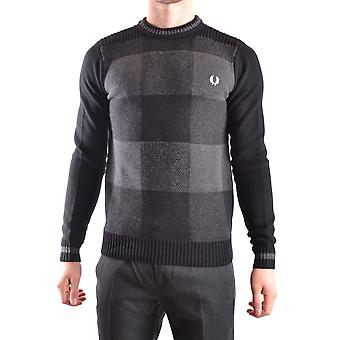 Fred Perry grå uld Sweater