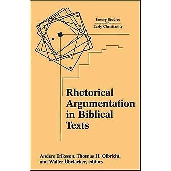 Argumentación retórica en los textos bíblicos por Belacker y Walter