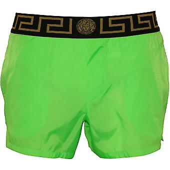 Versace Iconic Luxe Swim Shorts, Fluo Verde