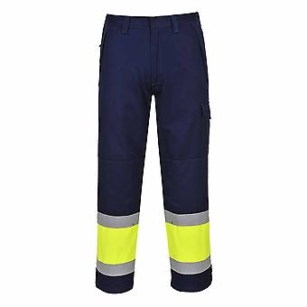 Portwest - Hi-Vis MODAFLAME Trouser Yellow/Navy 36-38
