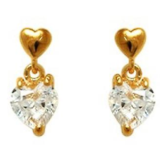 Ah! Jewellery Drop Heart Crystals From Swarovski Heart Shaped Back Earrings