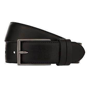 LLOYD Men's Belts Gürtel Herrengürtel Ledergürtel Vollrindleder Schwarz 8023