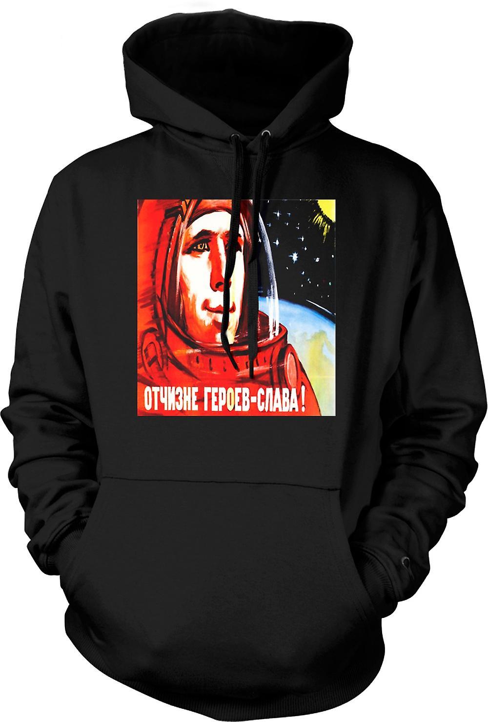 Mens Hoodie - Yuri Gagarin - Russisch ruimtevaarder