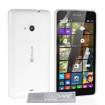 YouSave Accessories Microsoft Lumia 535 Silicone Gel Case Clear