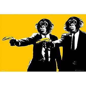 61x91.5cm de banana Maxi cartaz de macacos
